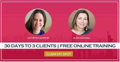 3 Καινούργιοι πελάτες μέσα στις επόμενες 30 ημέρες. Πενθήμερη διαδικτυακή εκπαίδευση για επαγγελματίες