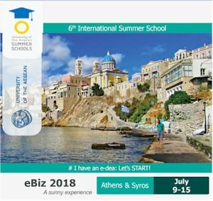 6ο Διεθνές Σχολείο στην Ηλεκτρονική Επιχειρηματικότητα, eBiz2018